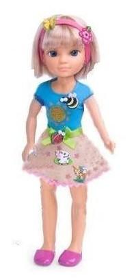 Кукла Нэнси с бабочкой на обруче и модными наклейками