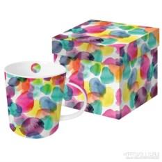 Кружка в подарочной коробке Aquarell dots