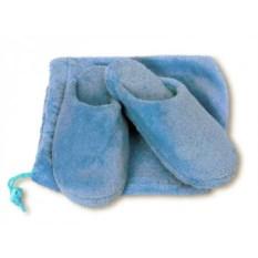 Женские домашние тапочки (цвет: голубой)