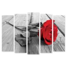 Модульная картина Живая роза