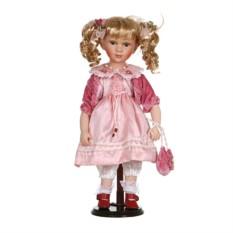 Фарфоровая кукла Беллас мягконабивным туловищем