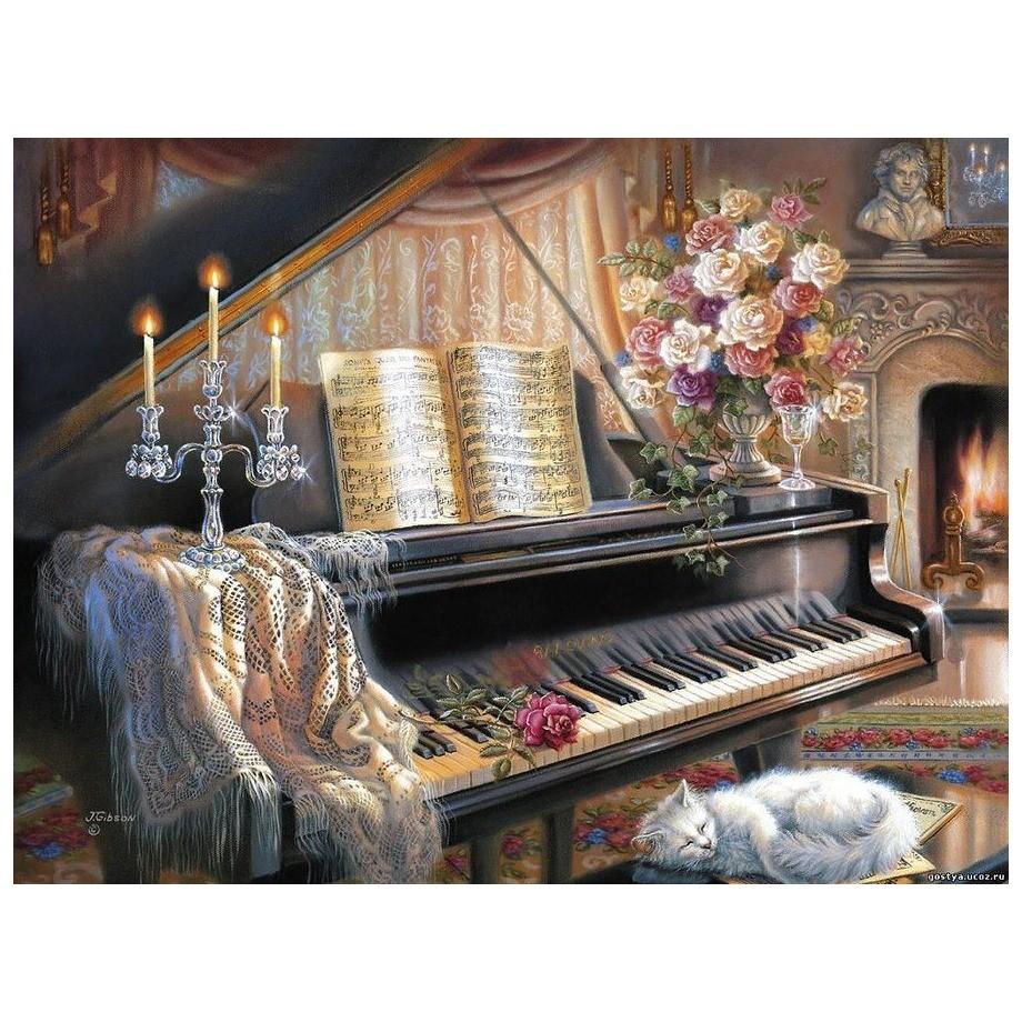 Картина-раскраска по номерам на холсте Рояль