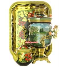 Набор для чаепития Летний пейзаж с клубникой