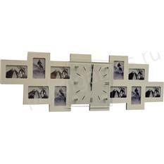 Часы-фоторамка Большая семья (белые)