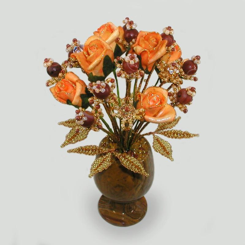 Цветок из агата Счастье на двоих
