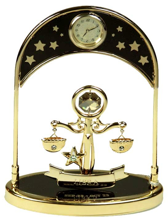 Фигурка декоративная с часами Swarovski Весы