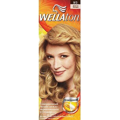 Крем-краска для волос Wellaton 9/3. Золотой блондин
