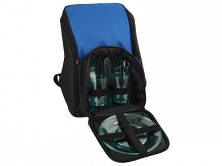 Синий рюкзак для пикника с термоизоляцией и набором посуды