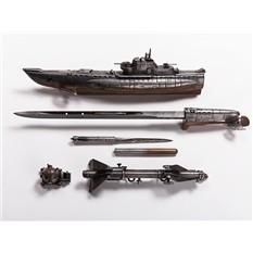 Композиция с ножом Боевой корабль