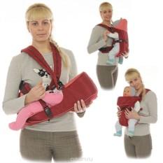 Вишневый рюкзак-кенгуру BabyActive Simple