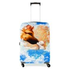 Чехол на чемодан Собака и котенок
