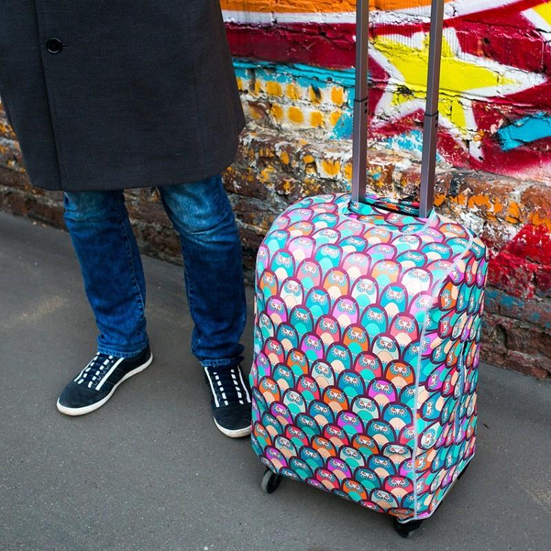 Чехол для чемодана CITY - Совы с поисковой меткой