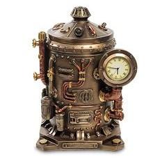 Статуэтка-часы в стиле стимпанк