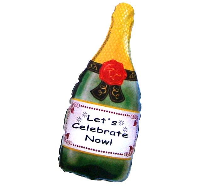 Шар из фольги Бутылка шампанского