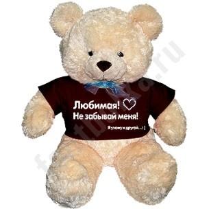 Медвежонок в футболке Для любимой