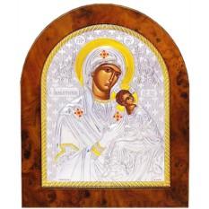Страстная икона Божией Матери в серебряном окладе