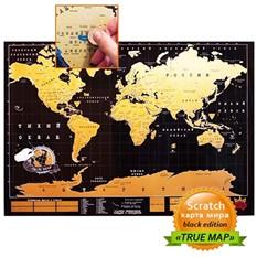 Карта мира со стирающимся скретч-слоем