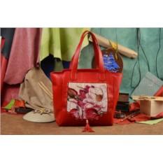 Кожаная сумка-шопер Рисунок сквозь буквы Elole Design