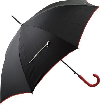 Черный зонт-трость с молнией Gian Franco Ferre