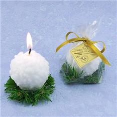 Декоративная свеча Снежок на елке