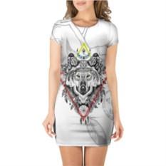 Платье с короткими рукавми Волк