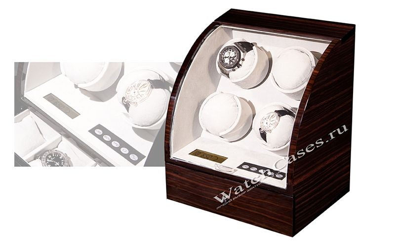 Шкатулка для часов с автоподзаводом, венге, коричневая