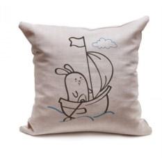 Декоративная подушка Кроль на кораблике