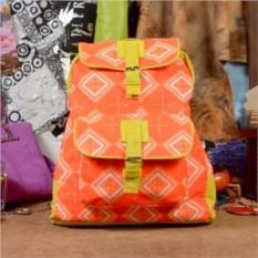 Текстильный рюкзак Узоры на оранжевом из коллекции Socotra