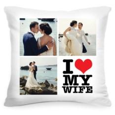 Подушка с вашим фото I love my wife