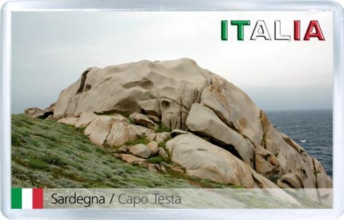 Магнит: Италия. Сардиния. Капо Теста (Capo Testa)