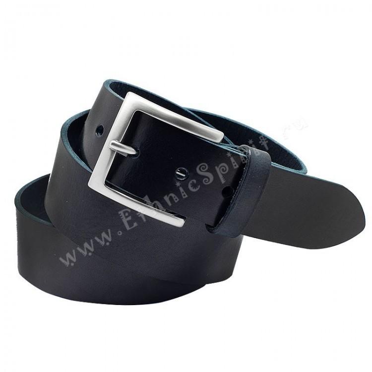 Темно-синий классический джинсовый ремень A.Roberto Napoli