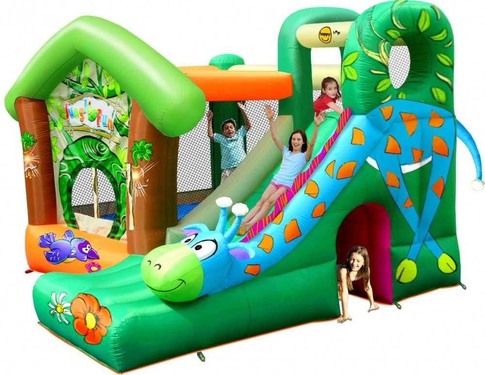 Детский надувной игровой центр Жираф HAPPY HOP