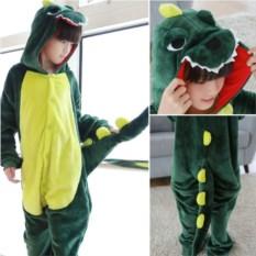 Детская кигуруми Зеленый динозавр