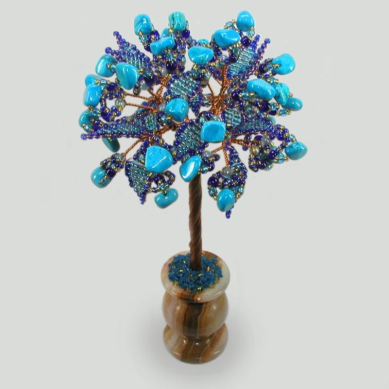 Дерево из бирюзы Бирюзовая сказка