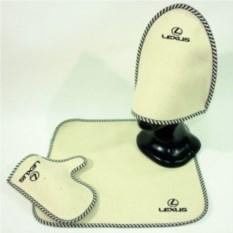 Комплект для бани с логотипом Lexus