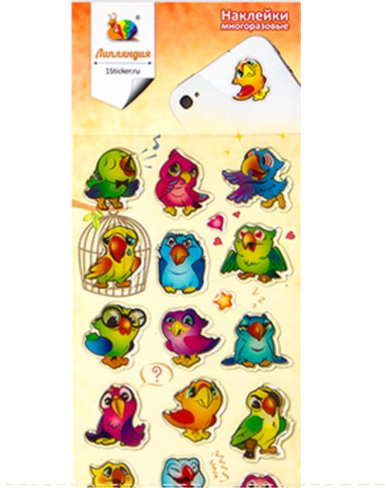Наклейки для гаджета Попугаи (Липляндия)
