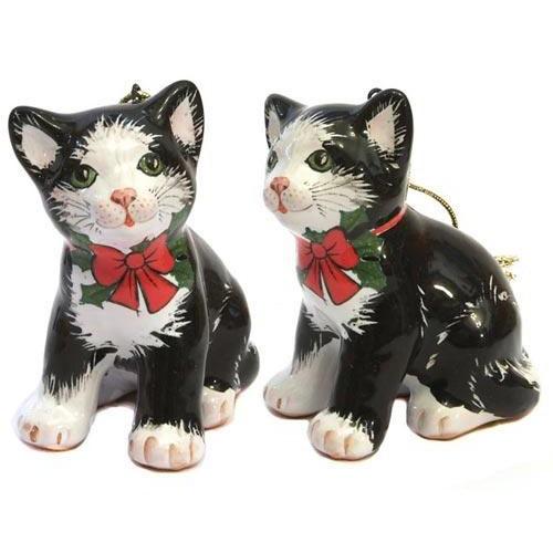 Ёлочная игрушка Котёнок с бантом