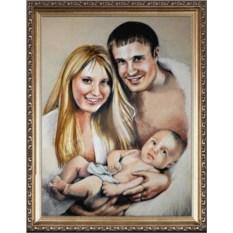 Портрет родителей и дочки