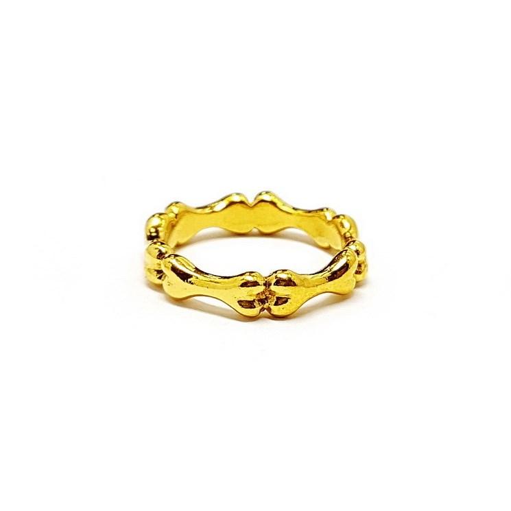 Кольцо Вечность из позолоченного серебра