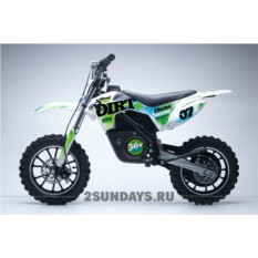 Детский электромотоцикл HOOK DIRT GREEN 24V