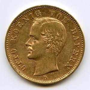 Монета «Бавария 20 марок»