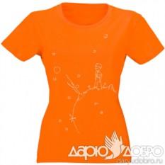Женская футболка Маленький Принц на планете