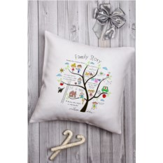 Декоративная именная подушка Family Story