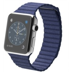 Apple Watch 42mm with Leather Loop (Bright Blue)