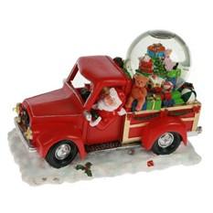 Новогодняя композиция с водяным шаром Дед Мороз, автомобиль