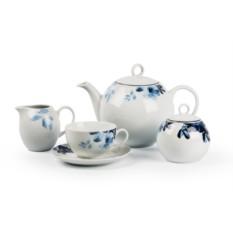 Фарфоровый чайный сервиз на 6 персон JARDIN BLEU MONALISA