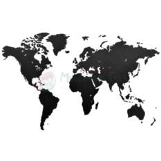 Пазл-карта мира True Puzzle Black