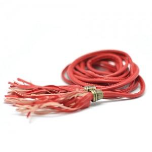 Ремень с кисточками (красный)