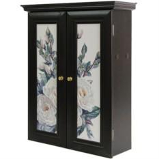 Декоративный настенный шкафчик Кремовые розы