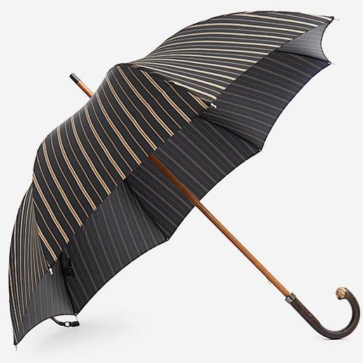 Тёмно-синий зонт Mario Talarico в бежевую полоску